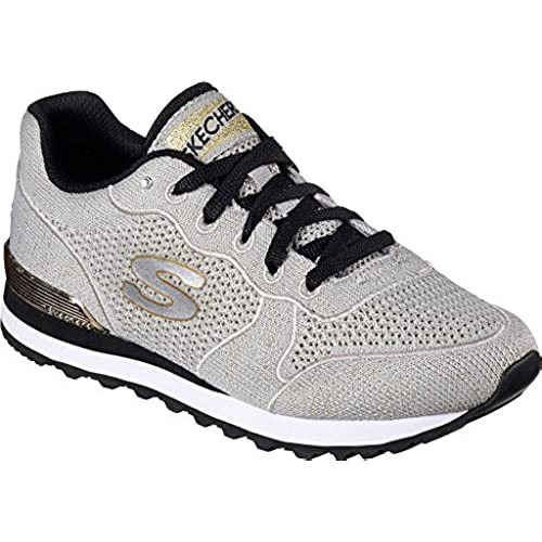 Residuos ropa interior Indomable  Skechers Women's OG 85 - Low Flyers, Sneaker, Taupe/ Gold, US M