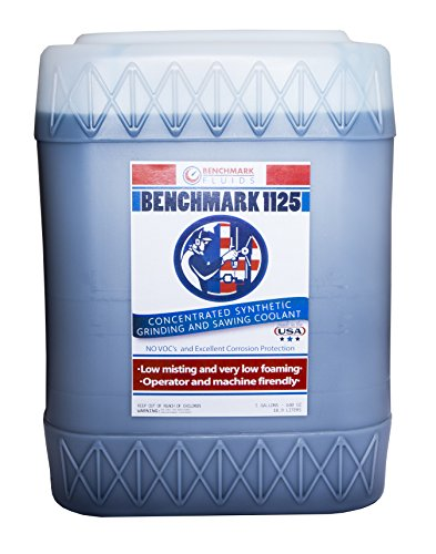 Benchmark Fluids 1125 Premium Synthetic Metalworking Coolant, 5 gal, Bucket, Blue
