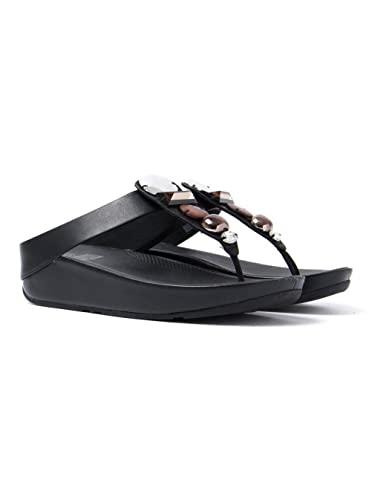 170577db88b2 Fitflop Women s Jeweley Toe-Post Sandals - Black