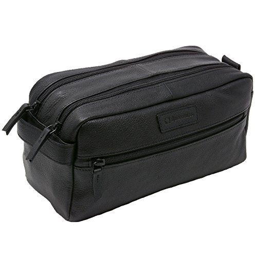 Leather Travel Travel Case - Alpine Swiss Sedona Toiletry Bag Genuine Leather Shaving Kit Dopp Kit Travel Case