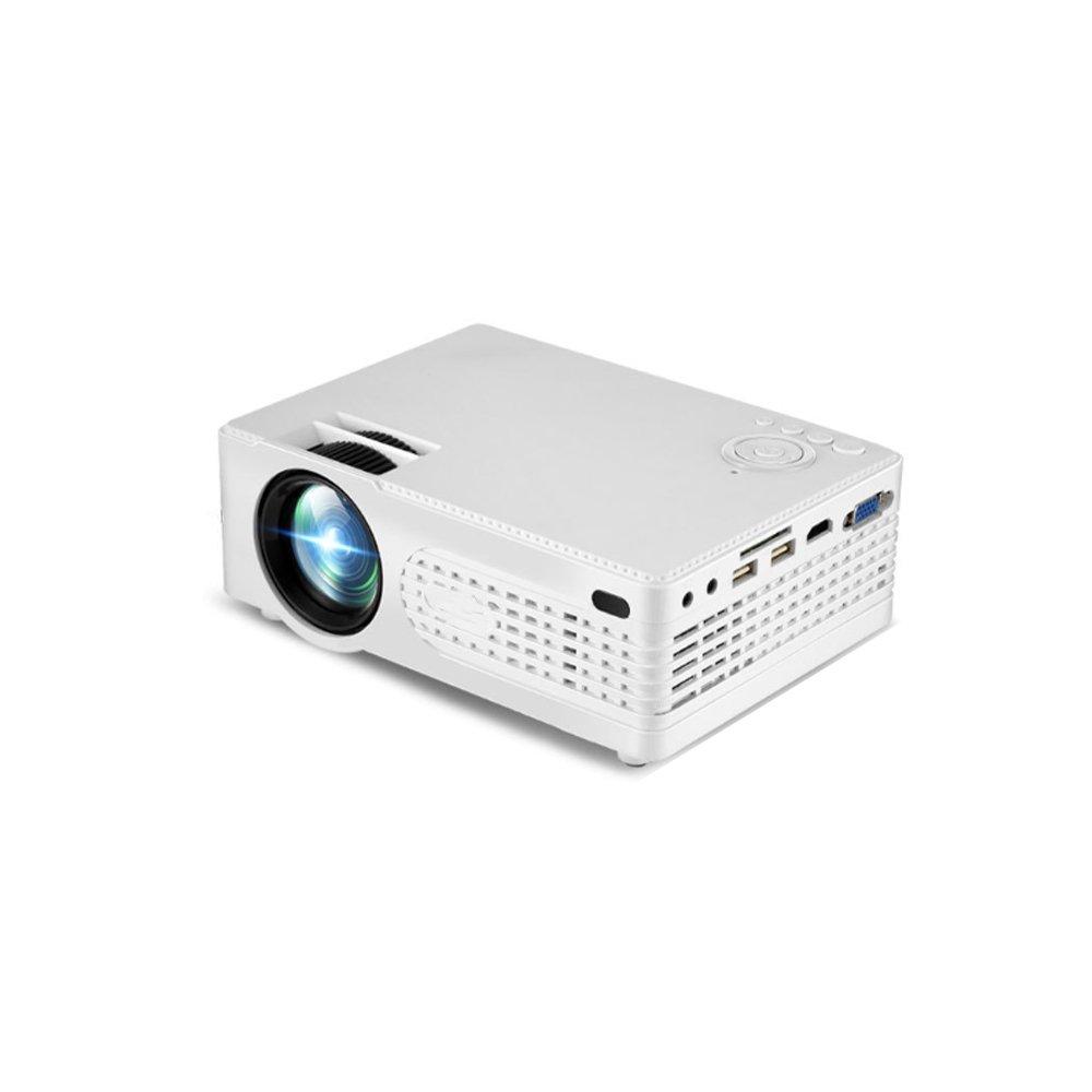Duoying LED Mini Projector(2018アップグレード済み)、1000:1コントラスト、HD 1080P 3D WIFIビデオプロジェクター、様々なスマートターミナルプロジェクトをサポート、ホームシアター&ビジネスに最適です。 B07FPGTTDQ