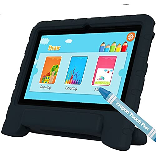 GBD Kids Edition Tablet PC 7Inch IPS Display WiFi Dual Camera Games,Quad Core Android,8GB,1GB RAM,Pre-install Coupons