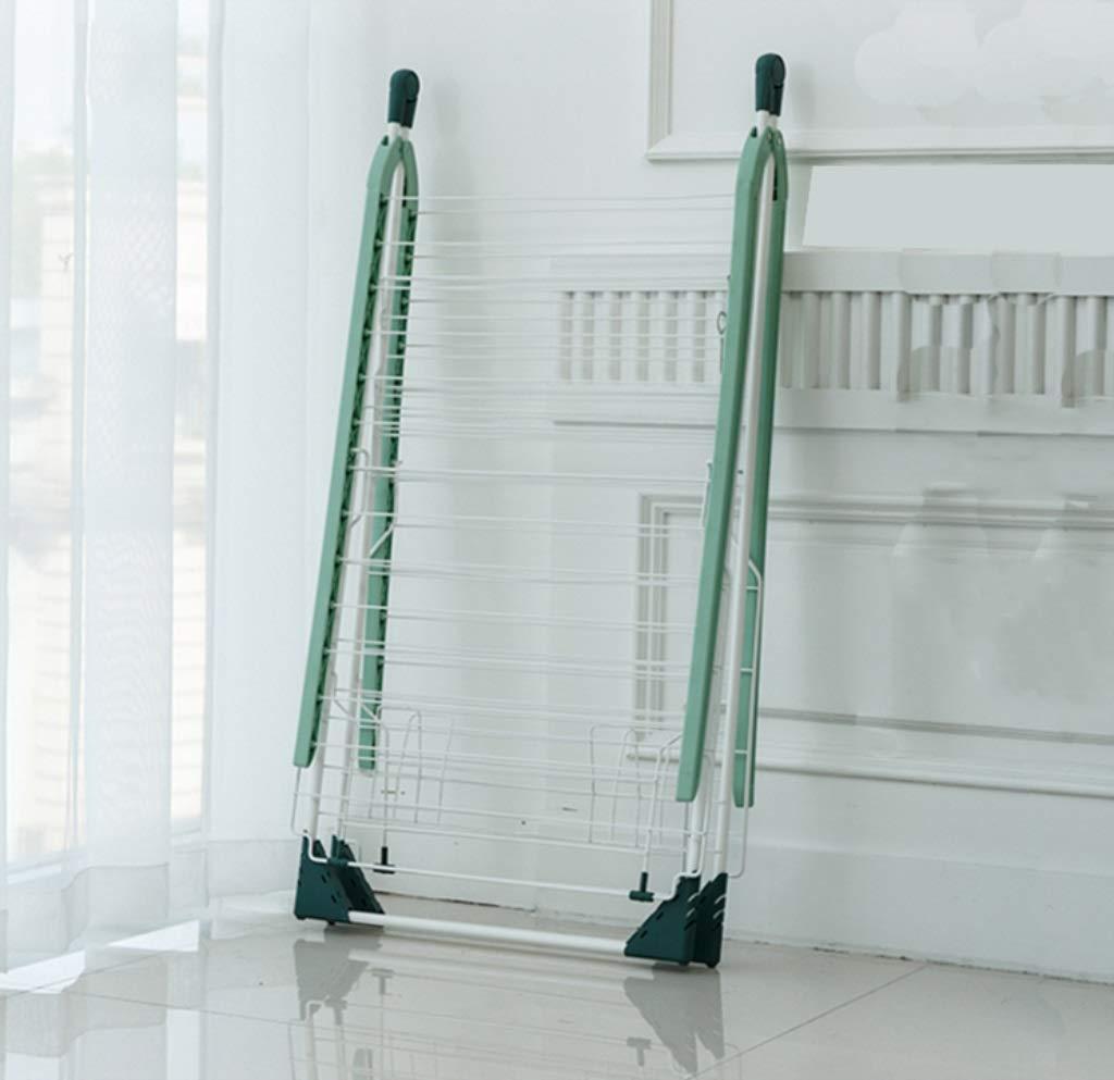 XnZLXS-Tendederos Rack de Secado de lavandería de Acero Inoxidable Rack de Almacenamiento Plegable Multifuncional - Verde: Amazon.es: Hogar