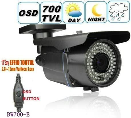 BW BW700-E 700TVL SONY Effio-E CCTV Surveillance Weatherproof outdoor camera 2.8-12 Zoom Focus IR 40M