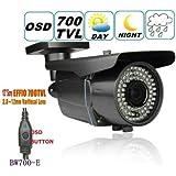 BW BW700-E 700TVL SONY Effio-E CCTV Surveillance Weatherproof outdoor camera 2.8- 12 Zoom & Focus IR 40M