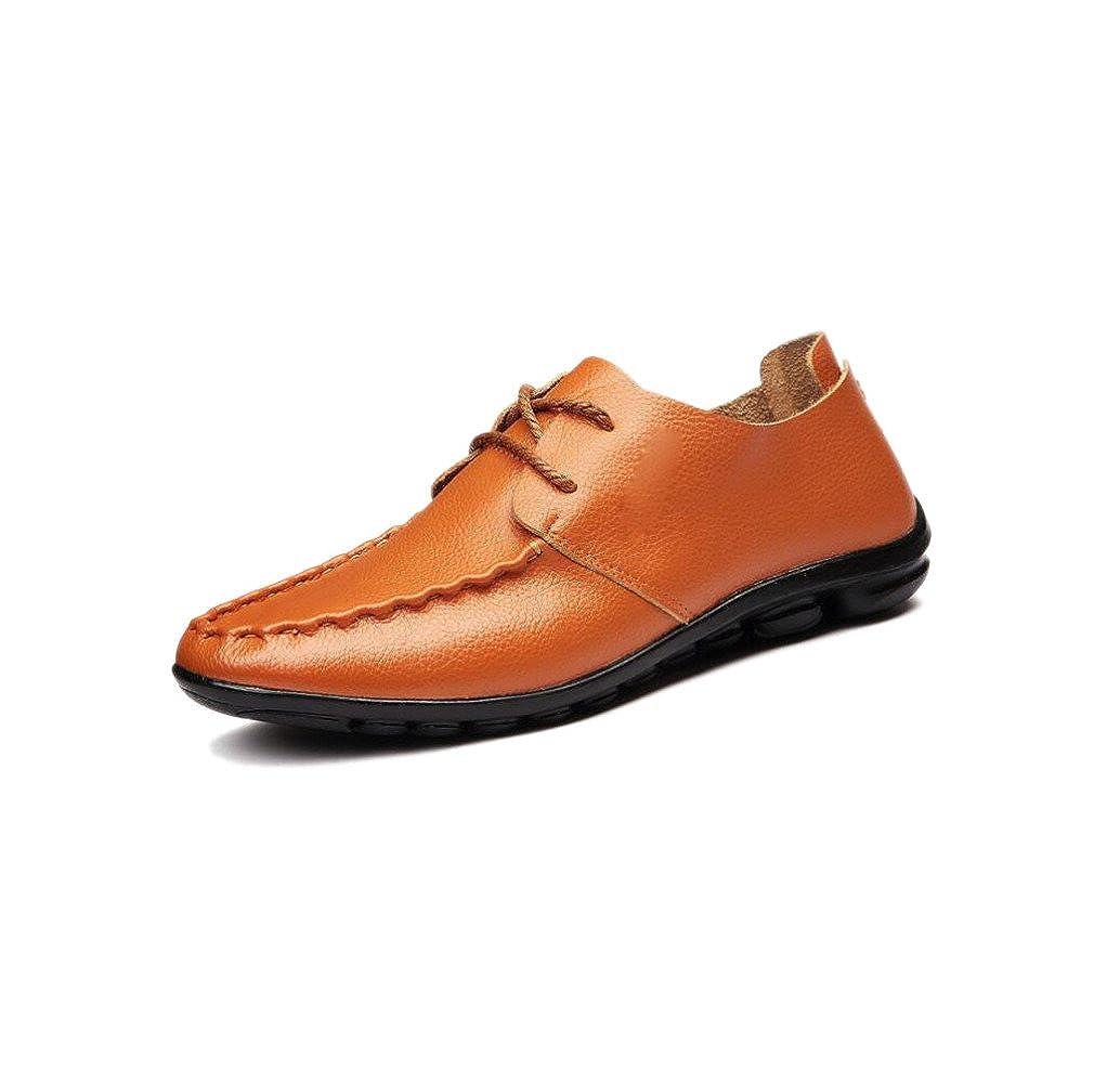 Männer Lerther Schuhe Kleid Formelle Abnutzung Lässig Runde Weiche Spitze Gürtelschnalle Baumwolle Flachen Boden Jugend Yellow