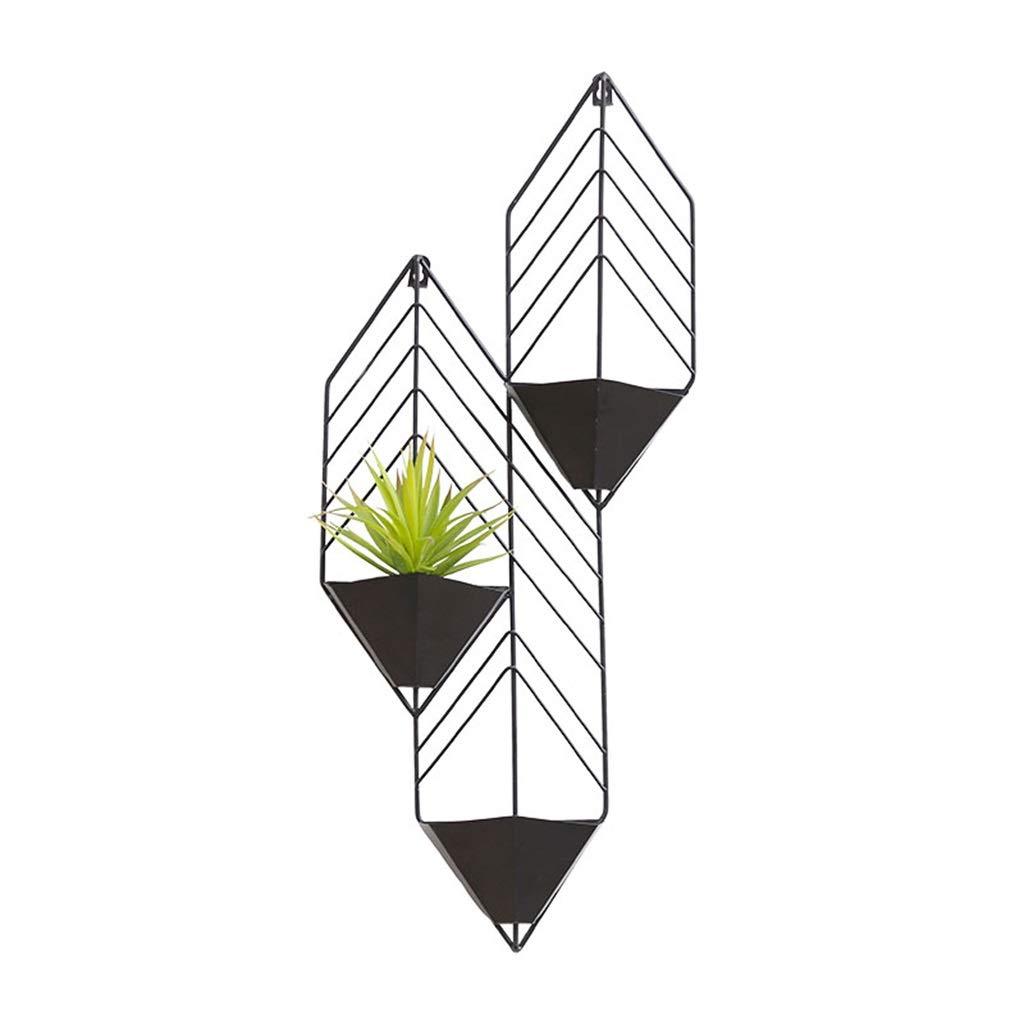 CGF-Scaffali porta piante Flower Shelf Plant Stand Vaso di Fiori Stand espositore Ferro sospeso Scala Balcone Bedroom Office Terrace Dimensioni 30x9x71 Cm (L x P x H) Nero Bianco Rosso Arancio