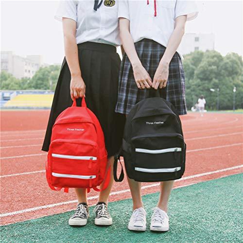 Dos Coréen Caming Pour Sac Voyage À Style rouge Luoem Filles L'école Étudiant De Rwn14qgUg
