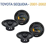 Fits Toyota Sequoia 2001-2002 Factory Speaker Upgrade Harmony (2) R65 Package New