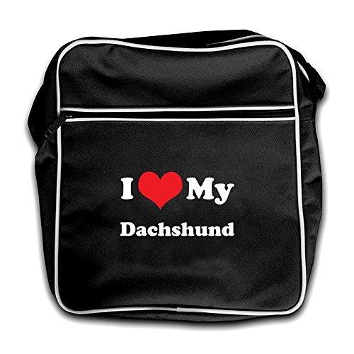 Bag Black Retro Flight Dachshund Love I My Dressdown gwFq4vYz