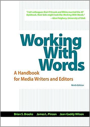 Descargar El Autor Torrent Working With Words: A Handbook For Media Writers And Editors Leer PDF