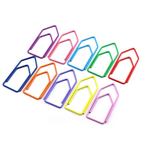 RuiLing 30-Pack Paper Clips,Multicolor Creative Shape 2.7 inch Length Great for Paper Clip Collectors Bookmark Document Holder Office School by RuiLing
