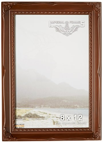 MyFrameStore No.621 Solid Wood Picture Photo/Diploma/Poster Frame, 8 by 12-Inch, Dark Walnut