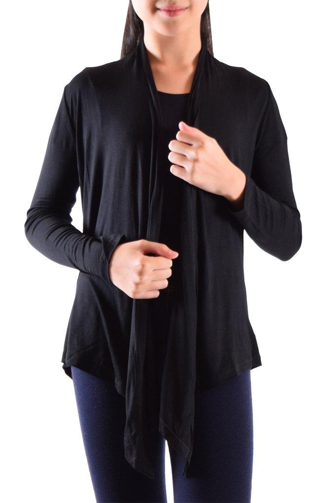 Dinamit Jeans Big Girls' Long Sleeve Flyaway Cardigan Sweater Black Medium