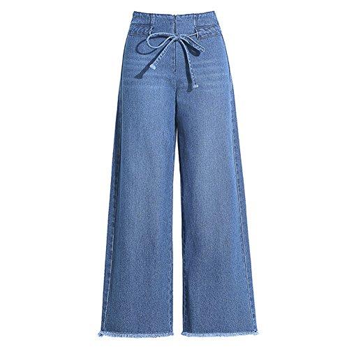 Crayon Jeans Blue Taille Amplaue Pantalons Mesdames a Pantalon Haute Pantalons dcontracts Jean Jambes Jambires Skinny Skinny Crayon Denim Minces Jeans Larges Jeans Longs Denim 44Oqwf