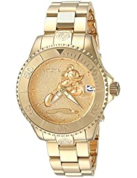 Womens Disney Limited Edition Automatic and Stainless Steel Casual Watch, Color:Gold