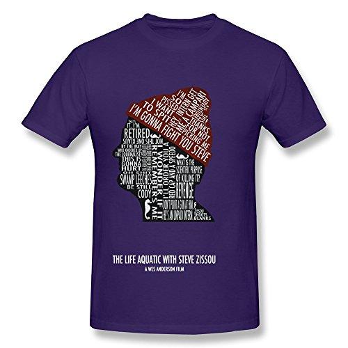 Huba Mens T Shirt The Life Aquatic With Steve Zissou Bill Murray 5 Purple Size L