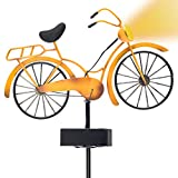 Outdoor Solar Garden Stake Lights – VINTAGE BICYCLE Garden Decor Landscape Lighting – Low Voltage Solar Powered LED Stakes for Unique Landscaping Accent Ideas For Yard Lawn Backyard Walkway Pathway