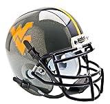 Schutt NCAA West Virginia Mountaineers Collectible Alt 1 Mini Helmet, Grey