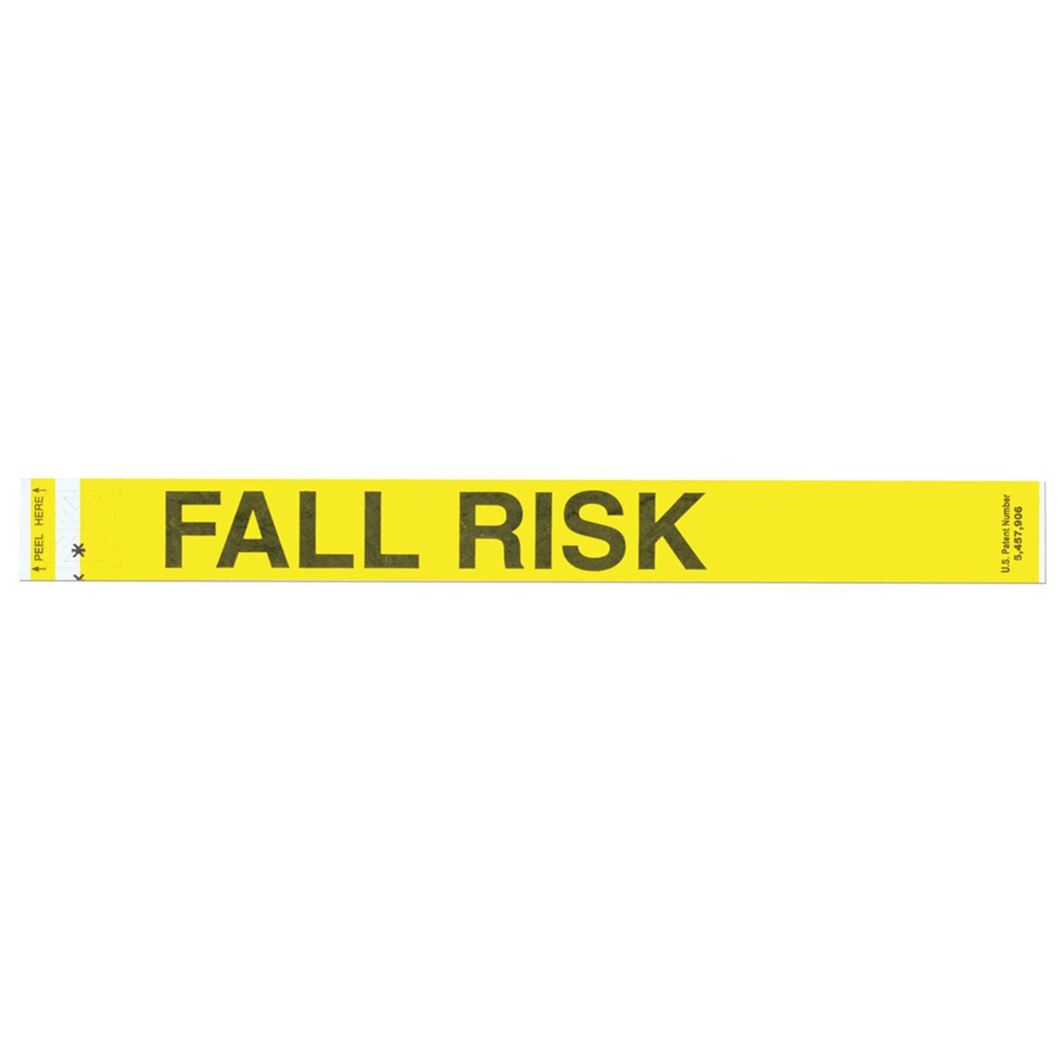 Short Stay 3050-14-PDR Short Stay Alert Bands, Tyvek Fall Risk Pre-Printed, State Standardization, Antimicrobial, 1'' x 10'', Adult/Pediatric, Yellow (Pack of 1000)