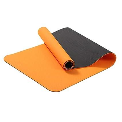 Amazon.com : Jzmai Yoga mat Yoga Mat Two-Color Double-Layer ...