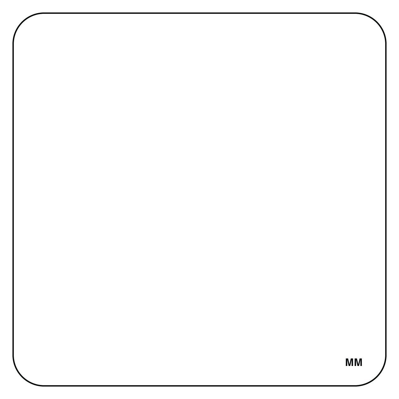 """DayMark 2"""" x 2"""" Blank Removable Label (Roll of 500)"""