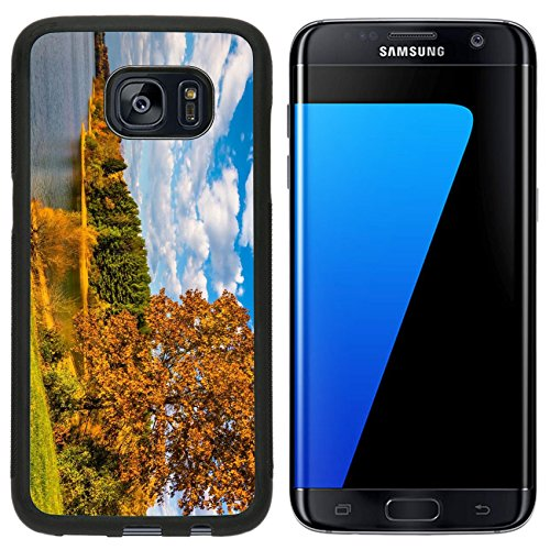 Luxlady Premium Samsung Galaxy S7 Edge Aluminum Backplate Bumper Snap Case Image Id  25228020 Autumn Tree And View Of Lake Marburg At Codorus State Park Pennsylvania