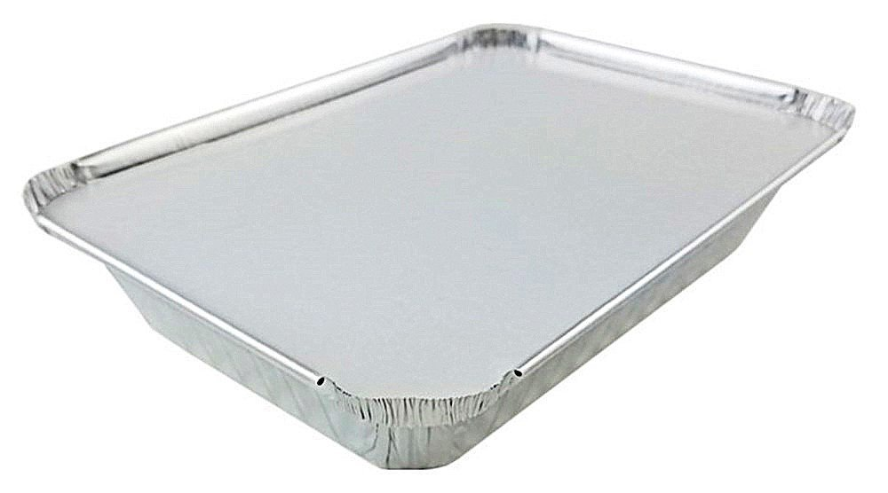 Pack of 10 Sets Pactogo 2 lb Oblong Aluminum Foil Take-Out Pan with Board Lid Disposable Containers 8.44 x 5.94 x 1.75