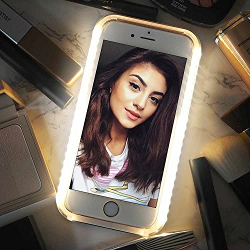 iPhone 6 Case, COSLIGHT LED Light Up Selfie Phone Case Luminous Protective Cover for Apple iPhone 6 6s (4.7'') - Rose Gold by Coslight (Image #5)