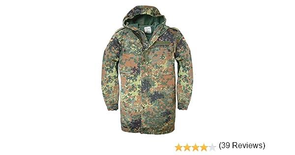 con cremallera frontal y capucha Chaqueta militar alemana original con estampado de camuflaje