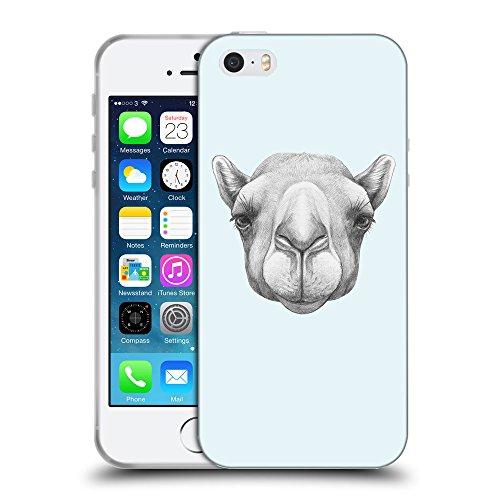 GoGoMobile Coque de Protection TPU Silicone Case pour // Q05360619 Portrait Camel Bulles // Apple iPhone 5 5S 5G SE