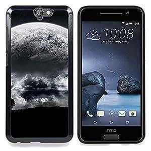 "Qstar Arte & diseño plástico duro Fundas Cover Cubre Hard Case Cover para HTC One A9 (Extranjero Luna Cerrar vista de árbol Eart Apocalypse Planet"")"