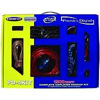 4 Gauge 1500W Amp Installation Car Wiring Kit + RCA