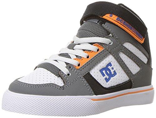 DC Kids Spartan High EV Sneaker, Grey/Blue/White, 6 M US Big Kid