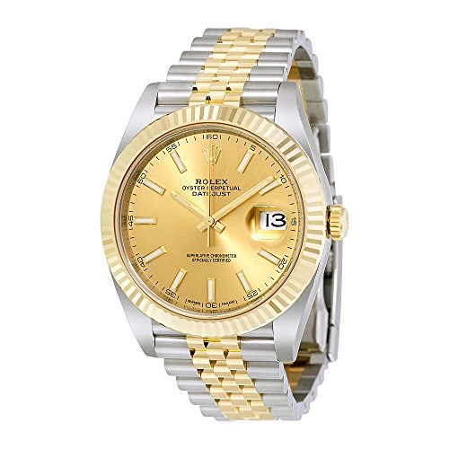 Rolex Datejust Champagne Dial Steel and 18K Yellow Gold Jubilee Mens Watch 126333CSJ
