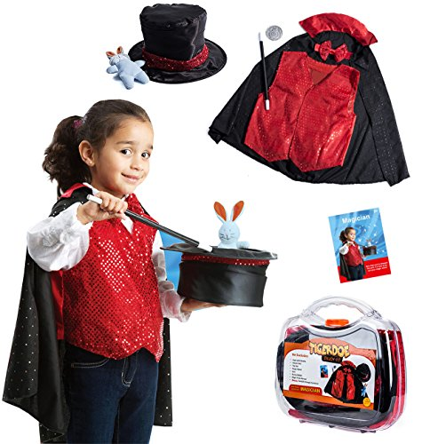 Tigerdoe magician Costume - magician Kit For Kids, Dress Up Clothes With Storage Case - (7 Pc Set) Tricks - Magician Costume Accessories