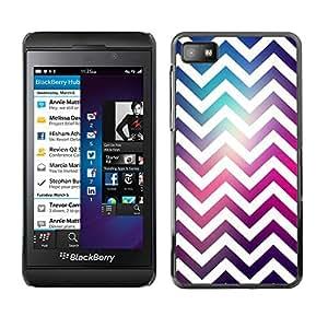 For Blackberry Z10 Case , White Universe Purple Pink - Diseño Patrón Teléfono Caso Cubierta Case Bumper Duro Protección Case Cover Funda