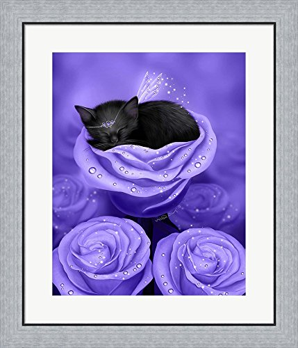 Lilac Daydreams by Melissa Dawn Framed Art Print Wall Picture, Flat Silver Frame, 24 x 28 - Daydream Lilac