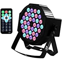Missyee Up Lighting-36 Leds RGB Stage Lights-Sound Activated DMX 512 Controller Dj Par Can Lights with remote control for Birthday Party Wedding Bar Club Home Christmas Halloween Festival (1 pack)