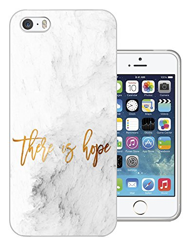 002501 - Marble Effect There is Hope Quote Design iphone 5 5S Fashion Trend Silikon Hülle Schutzhülle Schutzcase Gel Rubber Silicone Hülle