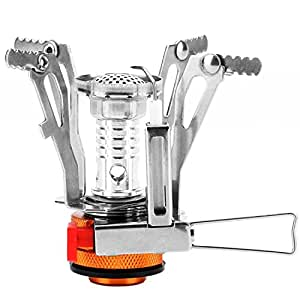 Reehut (1 PC) Ultralight Portable Camp Stoves for Camping, Outdoor, Backpacking & Hiking (Orange)