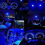 BlyilyB 10-Pack Blue T5 2721 37 74 Wedge Led Bulb