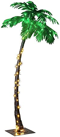 LIGHTSHARE JT-DC240V0250-C 7FEET Lighted Palm Tree, Large-ZLS7FT, 7-Feet, Multicolor