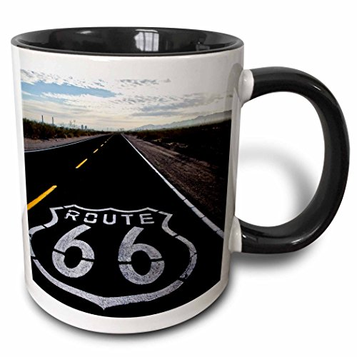 3dRose 142749_4 Route 66, Dagett, California, USA Mug, 11 oz, Black ()