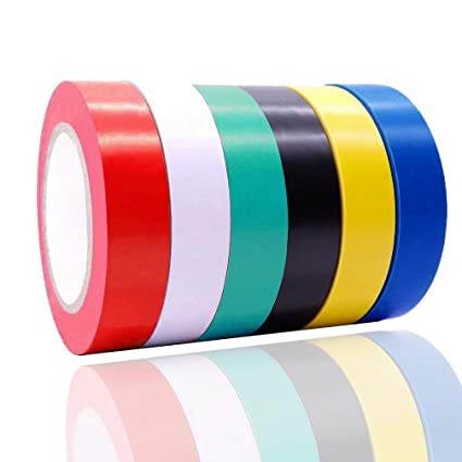 "Viaky High Electrical Insulation Tape Assorted Colors Each Roll is 0.6/"" x 50/'"