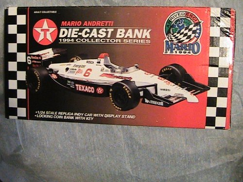 Texaco Havoline Racing Mario Andretti Die-Cast Bank 1994 Collector Year Texaco Havoline Racing