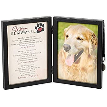 where ill always be dog memorial 5x7 picture frame with pet tag - Dog Memorial Frame