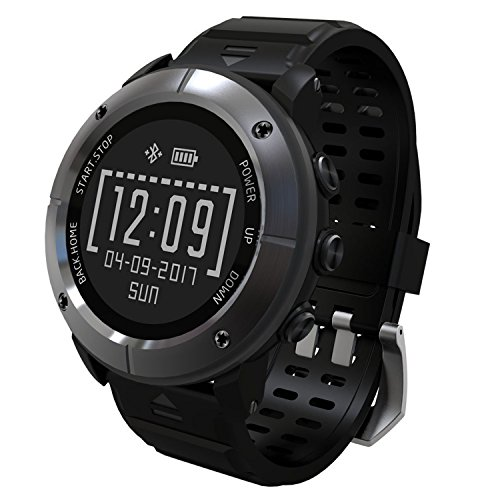 UWEAR GPS Running watch,IP68 Waterproof,Outdoor Sports Watch with HR,SOS,Compass,Barometer Altimeter,Return Cruise for Hiking Runner Smartwatch for iOS iPhone Android Samsung by UWear