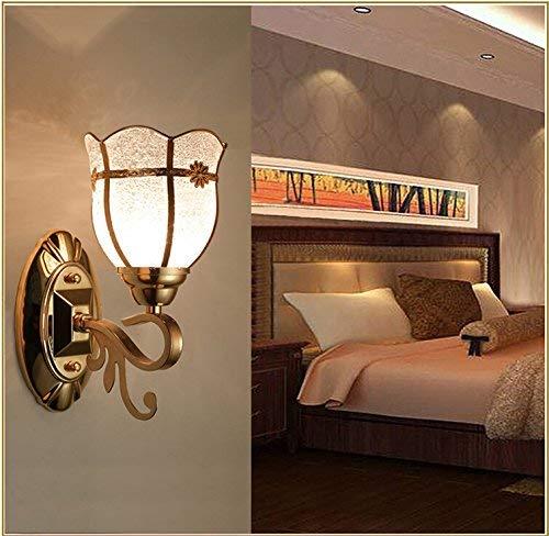 Minimalistische Wandleuchte E26   27 Basis Schlafzimmer Nachttischlampe führte Retro Schlafzimmer Nachttischlampe Glas Korridor Studie die Galerie Wandleuchten, einzigen Kopf ( Farbe   1 Single Head )