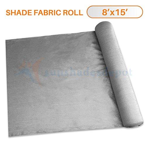Sunshades Depot 8' x 15' Shade Cloth 180 GSM HDPE Light Grey Fabric Roll Up to 95% Blockage UV Resistant Mesh Net by Sunshades Depot